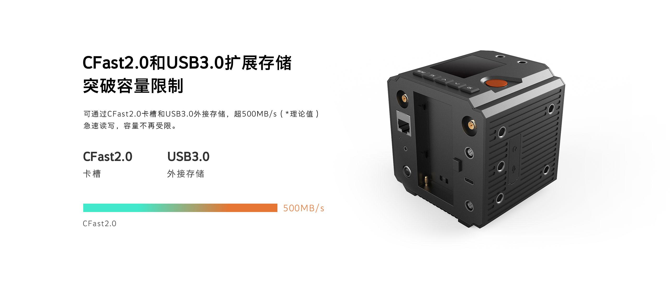 CFast2.0和USB3.0扩展存储